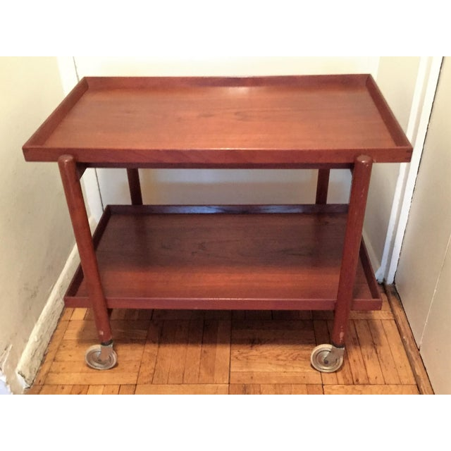 Poul Hundevad Teak Mid-Century Bar Cart - Image 5 of 8