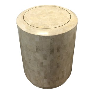 1970s Art Deco Maitland Smith Tessellated Stone Side Table For Sale