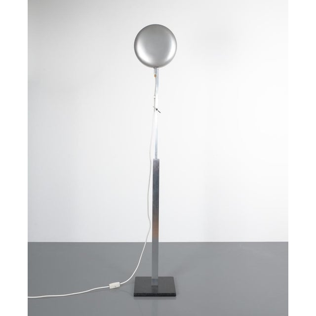 1950s Articulate Aluminum Floor Lamp by Schliephacke for Mewa, Circa 1955 For Sale - Image 5 of 12