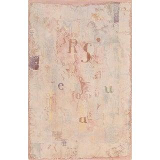 Vintage Mid-Century Scandinavian Paul Klee Modern Art Rug - 5′10″ × 9′2″ For Sale
