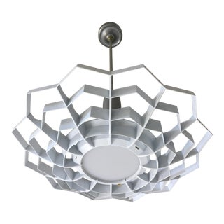 1950s Snowflake Pendant Light For Sale