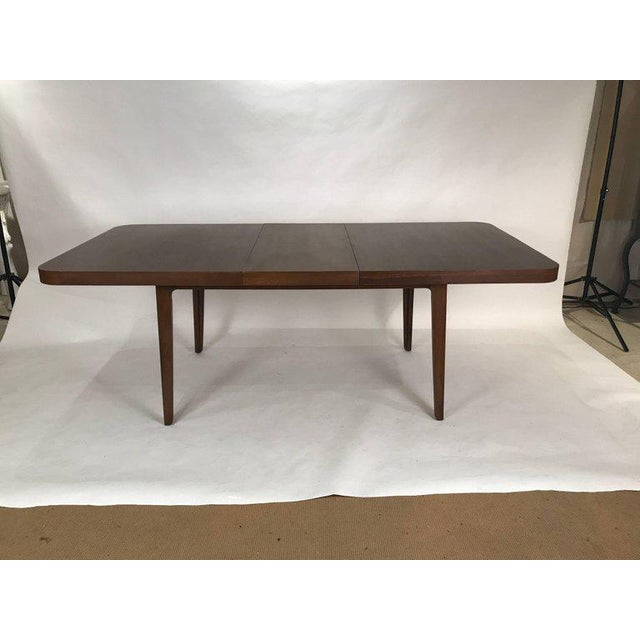 Stunning Midcentury Edward Wormley for Drexel Walnut Extension Dining Table For Sale - Image 9 of 11