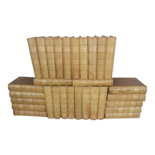 30 Volume Leather Bound Set of Encyclopedia Britannica, 1905 Edition For Sale