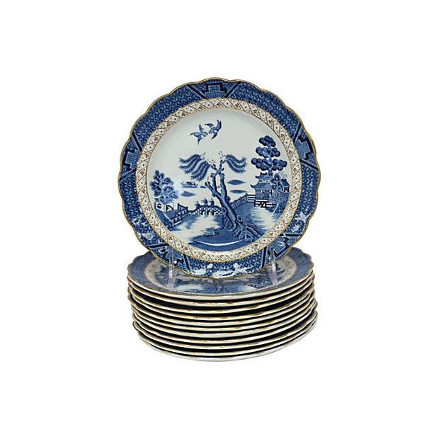 Booth's English Willow Salad Plates - Set of 12 For Sale - Image 4 of 4