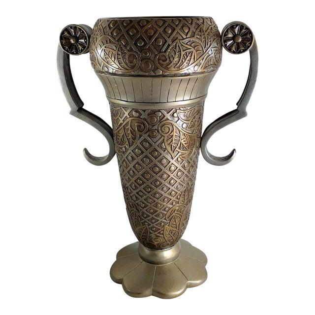 Contemporary Mediterranean Uttermost Grecian Urn / Vase With Handles For Sale