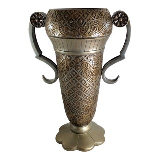 Uttermost Grecian Urn / Vase With Handles Contemporary Mediterranean For Sale
