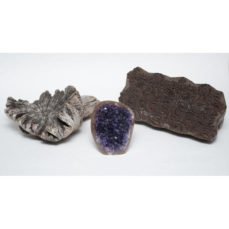 Amethyst Crystal & Wood Pieces - Set of 3 - Image 2 of 11