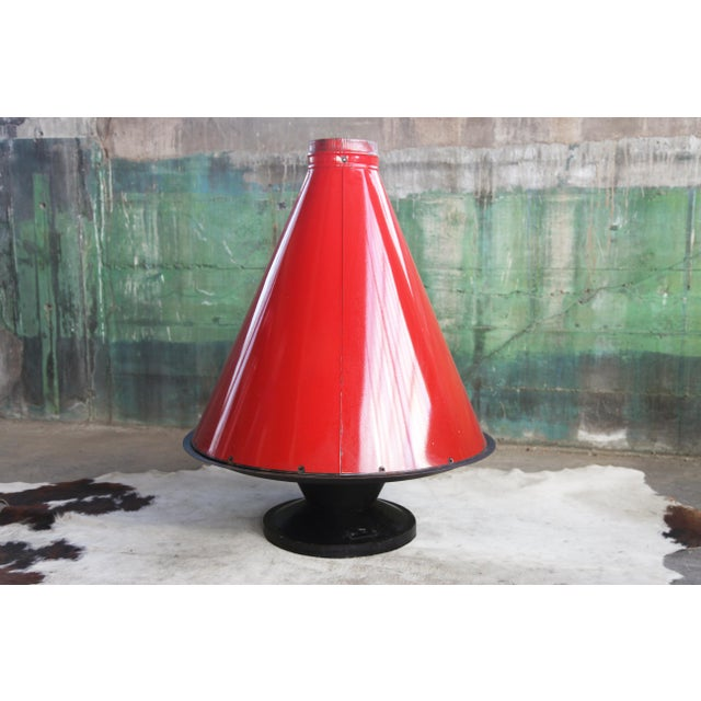 1960s Mid Century Original Malm Preway Eames Era Wood Burning Red Freestanding Fireplace For Sale - Image 11 of 12