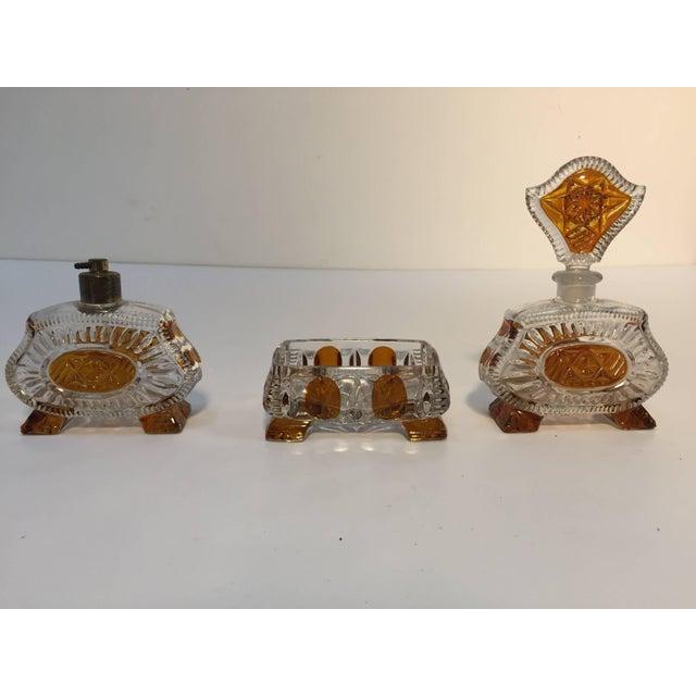 Art Deco Art Deco Bohemia Karl Palda Crystal Vanity Set, 1930s For Sale - Image 3 of 10