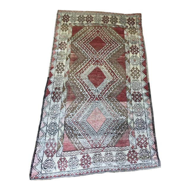 Bellwether Rugs Oushak Red & Earth Tone Patina Rug - 4′1″ × 7′5″ For Sale