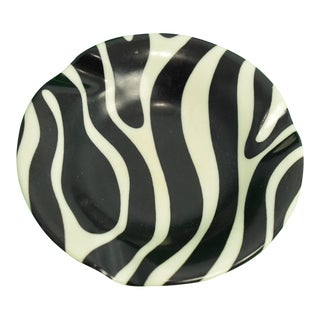 El Morocco Zebra Striped Ashtray