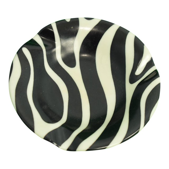 El Morocco Zebra Striped Ashtray For Sale