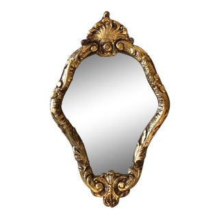 Small, Elegant Gilded Wall Mirror For Sale