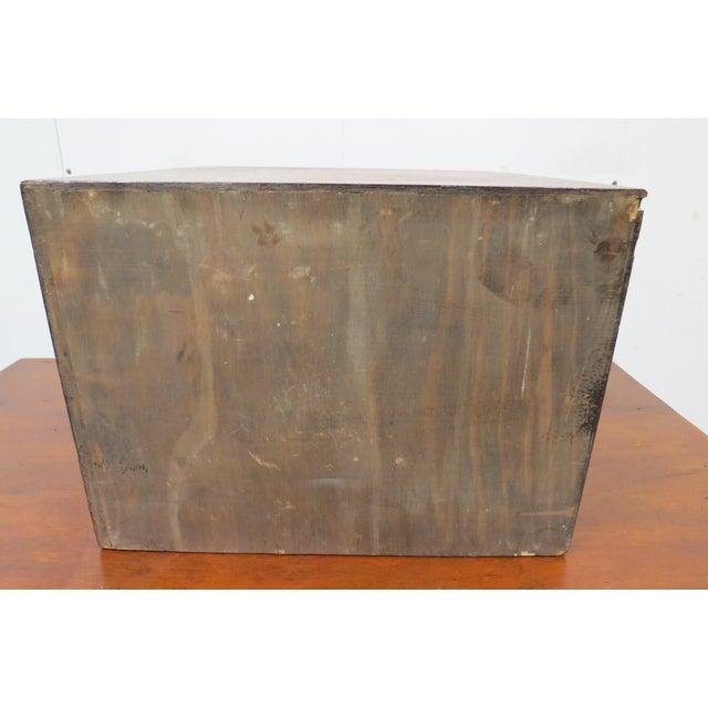 Wood English Tiger Oak 4 Drawer Tabletop Card File For Sale - Image 9 of 10