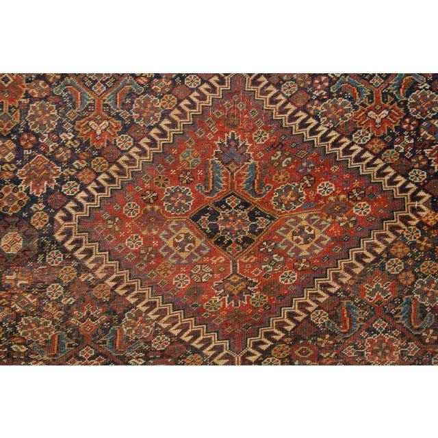 """Antique Persian Qashqai Rug - 3'11"""" x 6'5"""" - Image 7 of 10"""