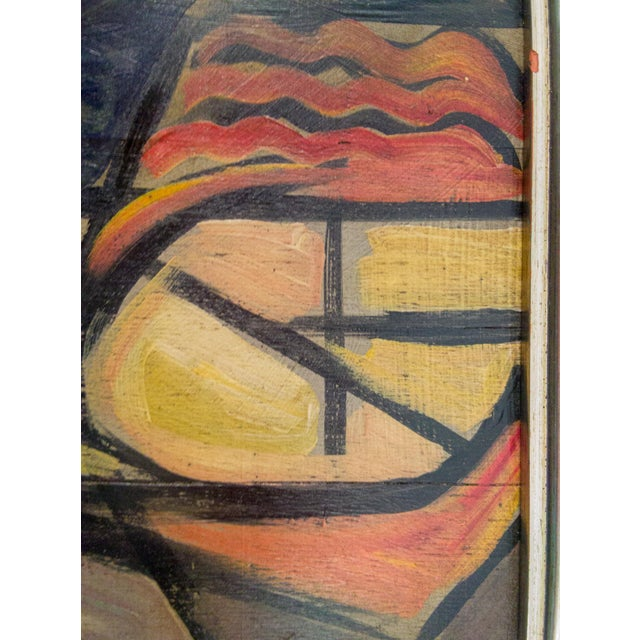 Cubism Mid-Century Cubist Portrait of Nude Woman For Sale - Image 3 of 5