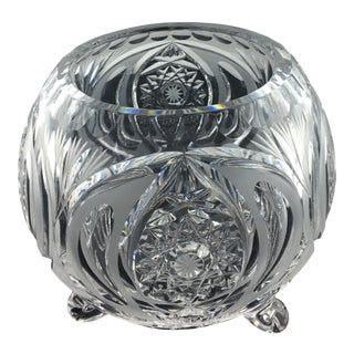 Baccarat French Art Deco Crystal Bowl For Sale