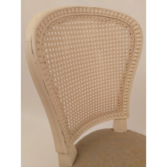 White French Cane Back Chairs - Set of 3 For Sale - Image 5 of 9