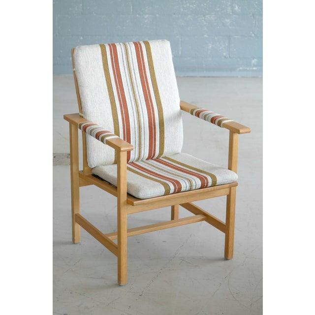 Børge Mogensen Model 2257 1960s Oak Lounge Chair for Fredericia Stolefabrik For Sale - Image 12 of 12