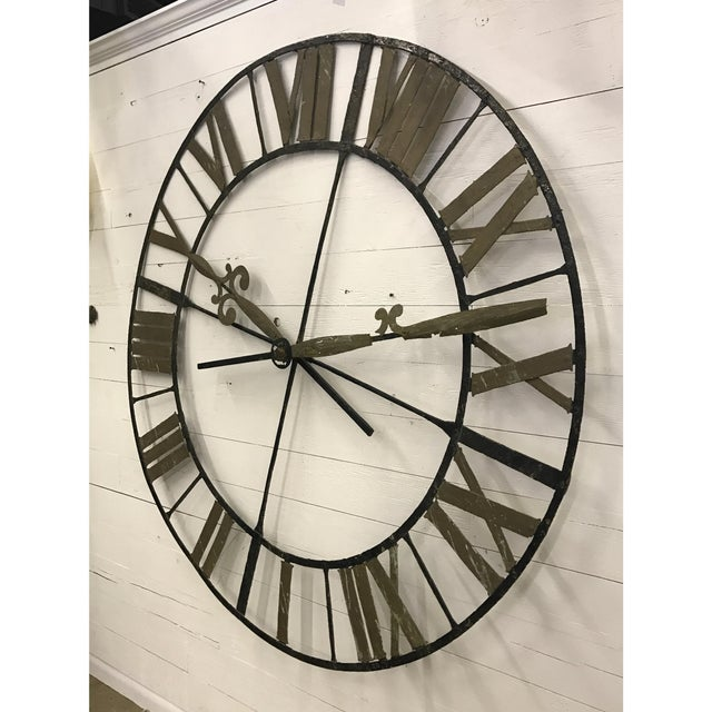 19th Century Wrought Iron Clock Face - Image 2 of 4