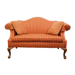Late 20th Century Vintage Ethan Allen Upholstered Loveseat For Sale