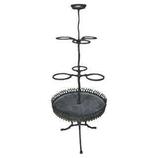 Swedish Cast Iron Plant Stand For Sale