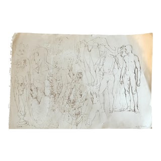 Male Nude Drawing Studies For Sale