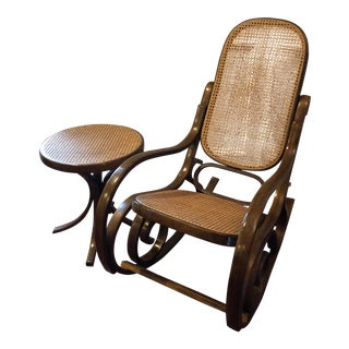 1960's Vintage Bentwood Rocker & Table Set- 2 Piece For Sale