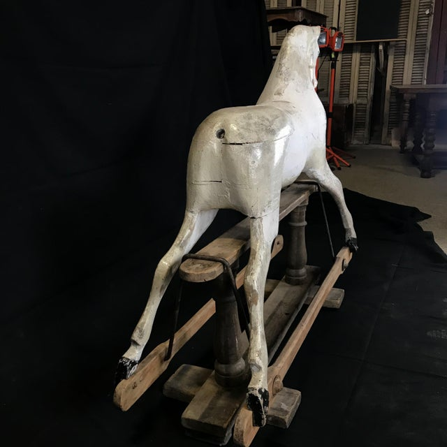 Mid 19th Century British Carved and Painted Wood Merry-Go-Round Carousel Horse For Sale In Portland, ME - Image 6 of 13