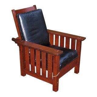 Antique L&jG Stickley Onondaga Shop Morris Chair For Sale