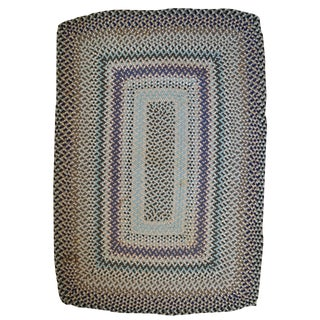 1960s Vintage American Braided Rug- 3′9″ × 5′6″ For Sale