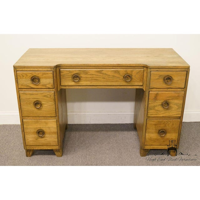 """Contemporary Davis Cabinet Co. Solid Oak Richwood Finish 48"""" Vanity For Sale - Image 3 of 13"""