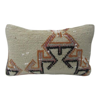 Vintage Turkish Handmade Decorative Pillow Cover - 12ʺW × 20ʺH For Sale