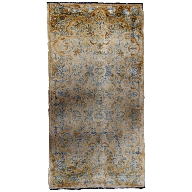 1920s, Handmade Antique Persian Kerman Rug 2.10' X 5.3' - 1b703 For Sale - Image 10 of 10