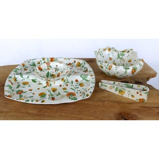 Mid-Century Modern Chip & Dip Set W/ Bowl & Tongs by Match Mates Preview