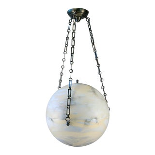 Contemporary Alabaster Ball Chandelier
