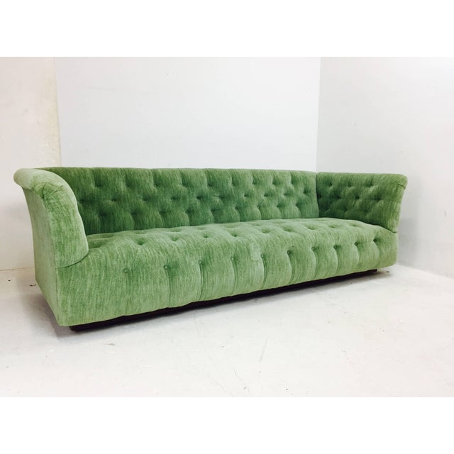 Milo Baughman Milo Baughman Chesterfield Style Tufted Sofa For Sale - Image 4 of 7