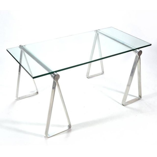 "1970s Aluminum ""Sawhorse"" Table or Desk For Sale - Image 10 of 10"