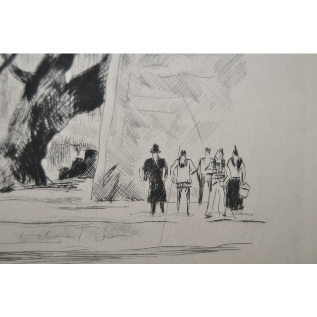 Rare Etching by Paul-Louis Guilbert C.1940 For Sale - Image 4 of 8