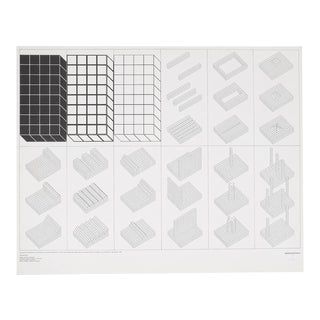 Superstudio Lithograph Istogrammi d'Architettura 466/500, Italy, 1969 For Sale