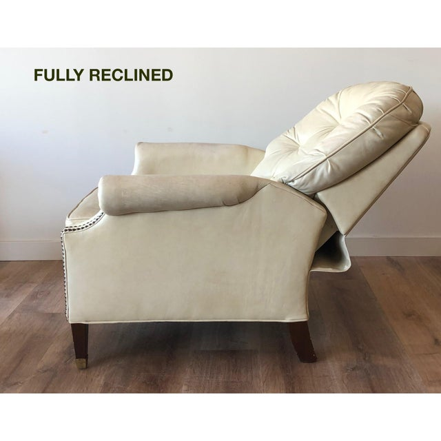Bradington Young Bradington Young Distressed Tufted Leather Recliner and Ottoman For Sale - Image 4 of 13