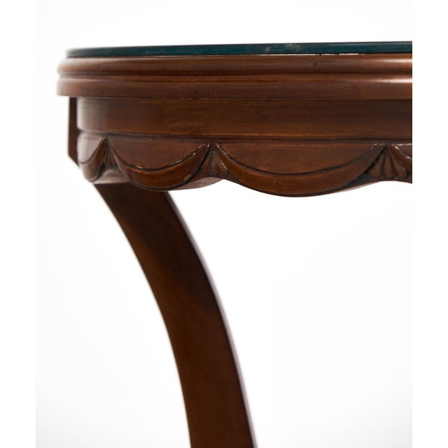 French Art Deco Garlanded Walnut Gueridon - Image 9 of 10