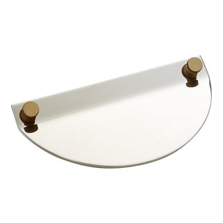 Geo-02 Polished Nickel Knob For Sale