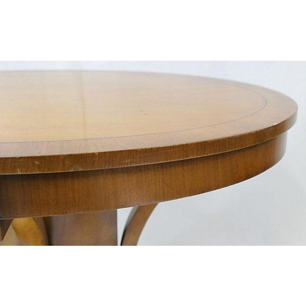 Vintage Cherry Oval Center Table - Image 4 of 4