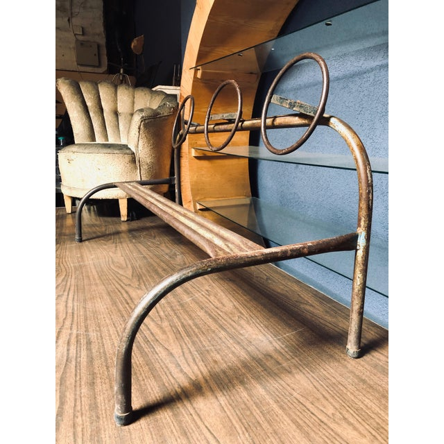 Brown Amazing Children's Vintage Hand-Bent Hand-Welded Metal Old School Playground Toy For Sale - Image 8 of 11
