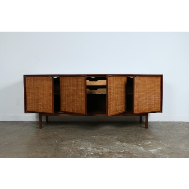 Walnut Cane Credenza by Founders - Image 3 of 11