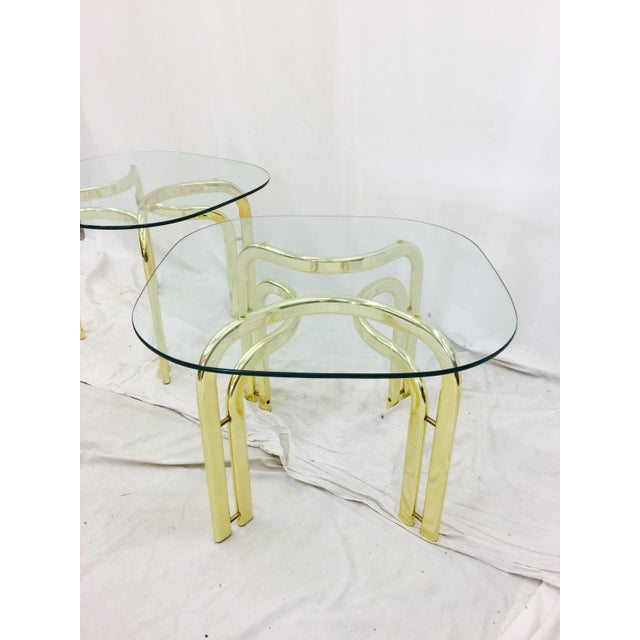 Modern Brass Side Tables - A Pair For Sale - Image 10 of 11