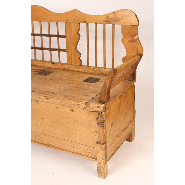 Continental Pine Settle Bench - Image 3 of 11