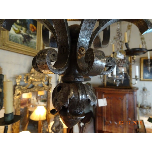 French French Vintage Iron Lantern For Sale - Image 3 of 12
