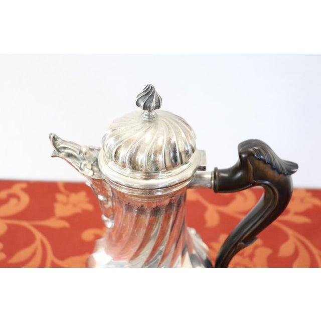 20th Century Italian Baroque Style Silver 800 Coffee Pot For Sale - Image 10 of 13